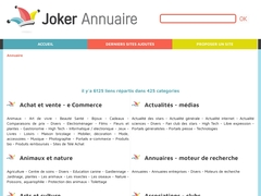 Détails : Joker Annuaire :  Annuaire gratuit de sites internet français