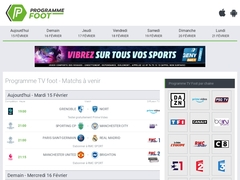 Calendrier des matchs retransmis à la télévision
