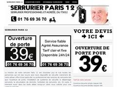 Serrurier Paris 12 - Ouverture de porte 39€ - Mannuaire.net