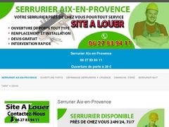 Artisan serrurier d'urgence Aix-en-Provence
