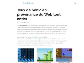 Gratuit – Jeux Sonic