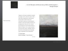 Détails : Abstraction sur une idée du paysage. Peintures abstraites. Art abstrait.