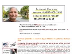 Serrurier dimanche Paris 19 - Mannuaire.net