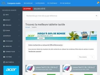 Les comparateurs de tablettes en ligne