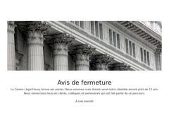 Congédiement Centre Légal Fleury - Mannuaire.net