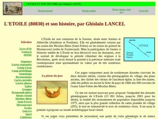 Histoire du village de L\'ETOILE (F 80830), depuis les origines (inédits)