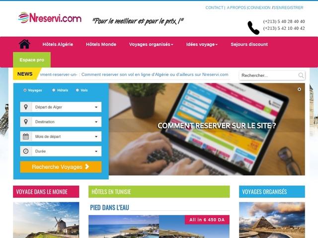 Nreservi : Agence de voyage algérienne en ligne