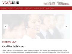 tunisie call center : vocal line SA - Mannuaire.net