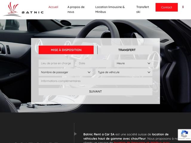 Batnic : la location de minibus et limousines à Genève