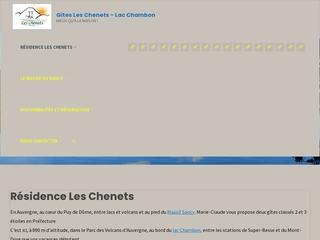 Gîte Les Chenets dans le massif du Sancy