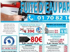 Dépannage fuite d'eau tuyauterie Paris 7