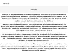 serrurier Agréé et qualifié  Paris 6