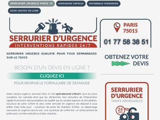 Ouverture de porte Paris 15