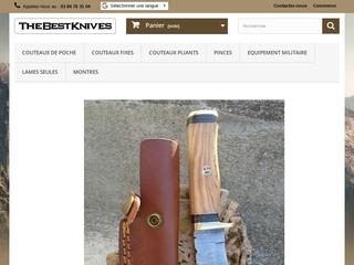 TheBestKnives, vente de couteaux de marque