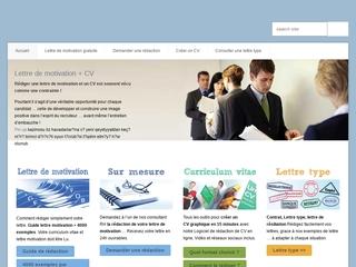 Lettres de motivation, lettre types, CV.