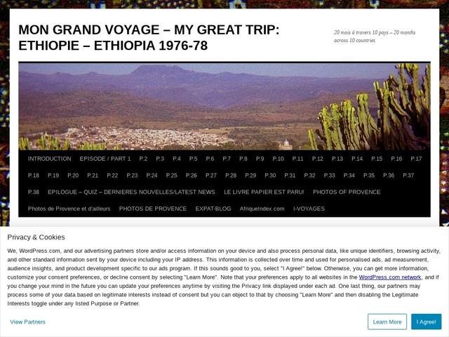 Mon Grand Voyage en Ethiopie 1976-78