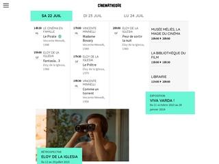 Projections et expositions cinema - La Cinematheque Française