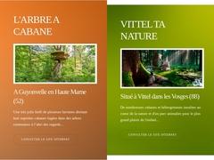 Parc animalier, et parc de cabane pour hébergement insolite dans les Vosges.