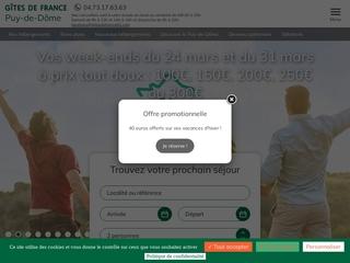 Louer une chambre d'hôte dans le Puy de Dôme