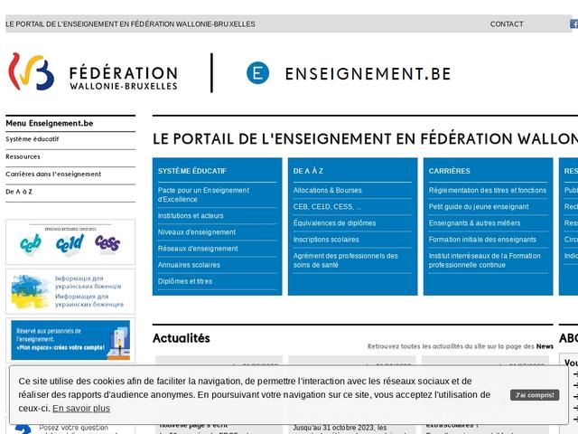 Enseignement.be - Etre enseignant: Titres et cours liés à une fonction