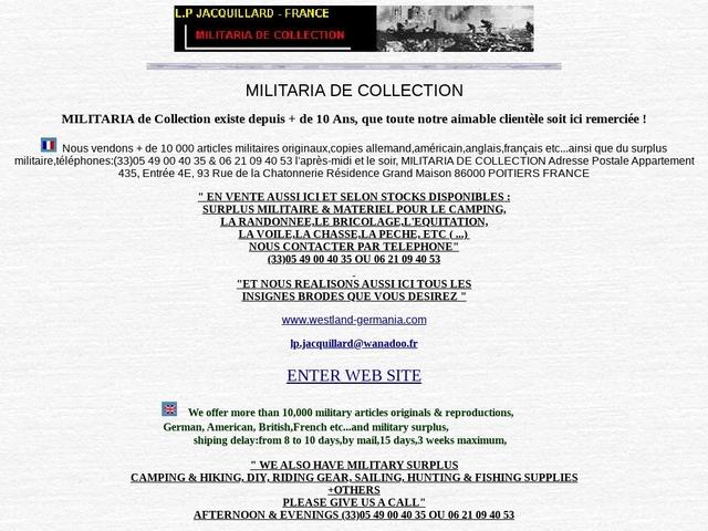 Westland Germania - militaria, surplus à Poitiers (86)