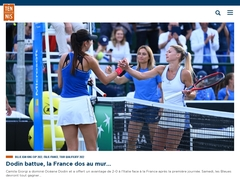 Site du club de tennis de Flins