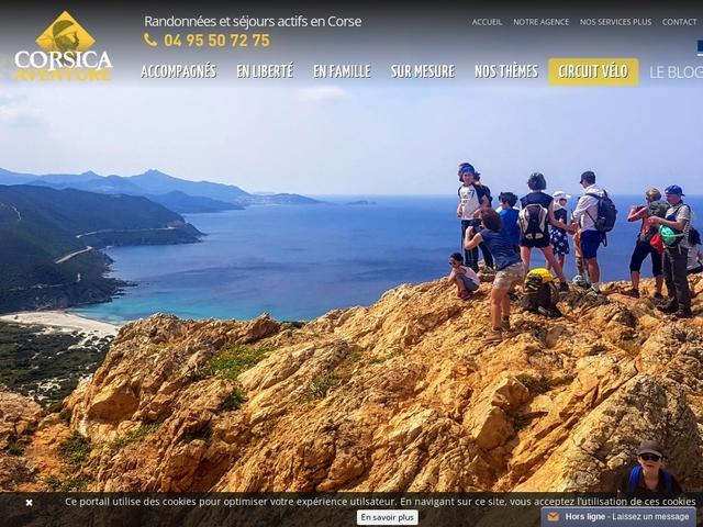 Corsica Aventure, randonnée, trek, vélo, kayak en Corse