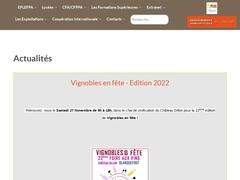 Centre de Formation par Apprentissage métiers de la Vigne, du Vin, du Paysage et formations adultes