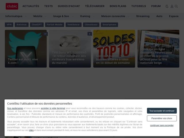Clubic : Actualité informatique, Comparatifs, Logiciels et Forum
