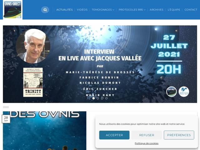 OVNIS-DIRECT | Le Media UFO | Actualite en Live 24/7
