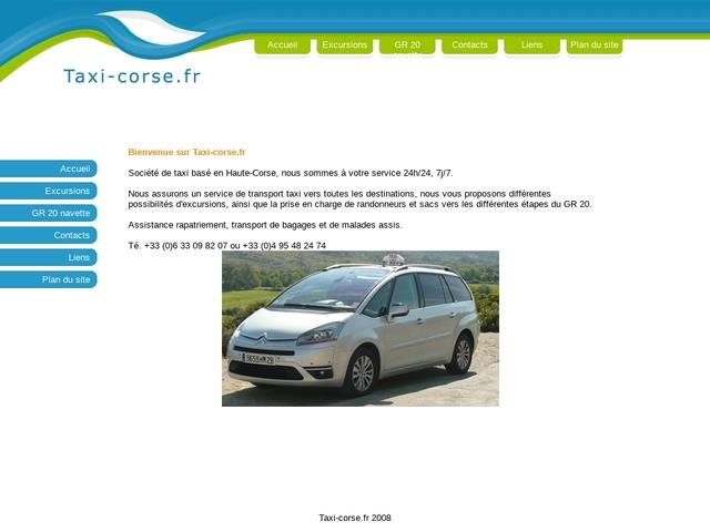 Société de taxi en Haute Corse
