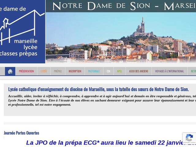 Lycée privé Notre Dame de Sion ( Marseille)