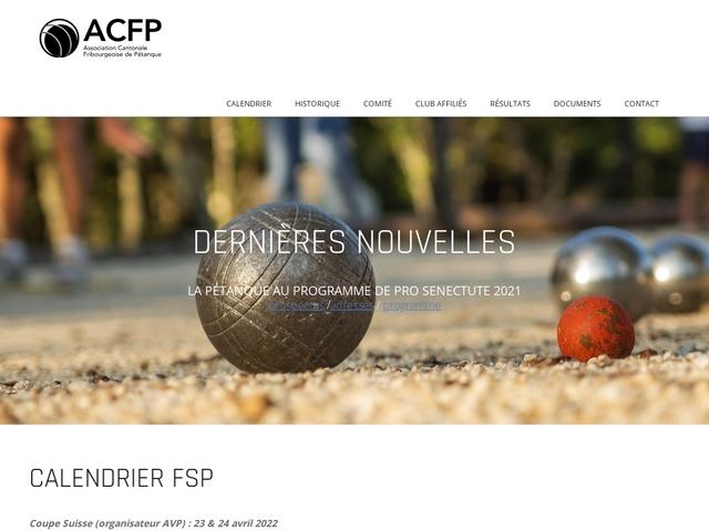 Association Cantonale Fribourgeoise de Pétanque (ACFP)