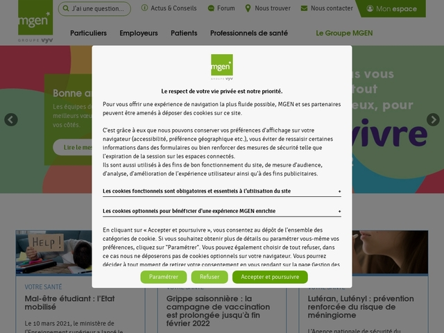 MOCEN - Ma mutuelle santé devenue MGEN