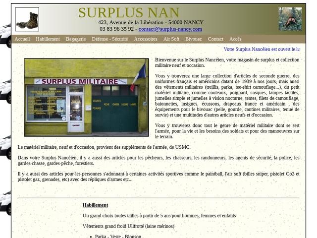 Surplus Nancéin - surplus militaire à Nancy