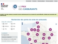 Prix des carburants en France, site gouvernemental
