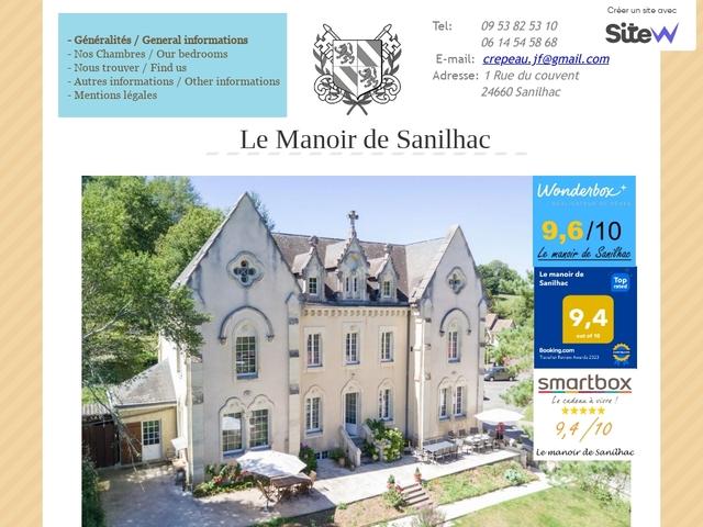 Le manoir de Sanilhac