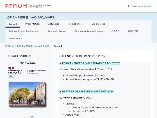 Lycée de l'Emperi (Salon de Provence)
