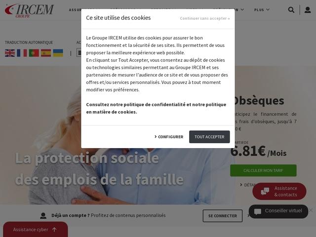 IRCEM indemnisation maladie