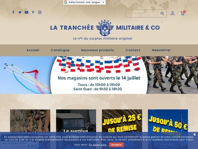 La tranchée militaire - surplus militaire à Tours