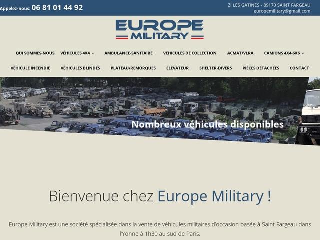 Europe Military - Surplus militaire de véhicules