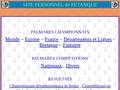 Le palmarès des concours nationaux de Pétanque, chez Robert Salou