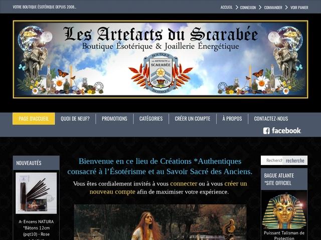 Boutique Ésotérique Les Artefacts du Scarabée