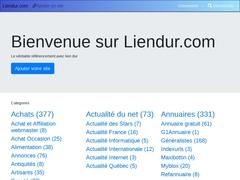 Lien Liendur.com -  -  Aide au positionnement de vitrine internet.