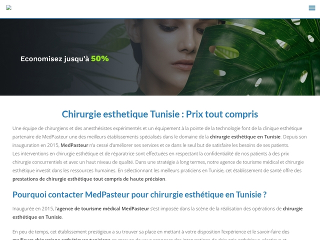 chirurgie esthetique femme Tunisie