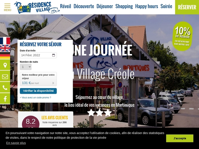 Village Creole Hotel Martinique Résidence hôtelière