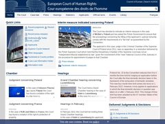 European Court of Human Rights (ECHR)