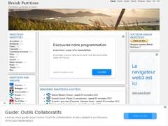 Breizh Partitions - Partitions gratuites de musique celtique pour violon, flûte, cornemuse écossaise, bombarde, guitare, piano…
