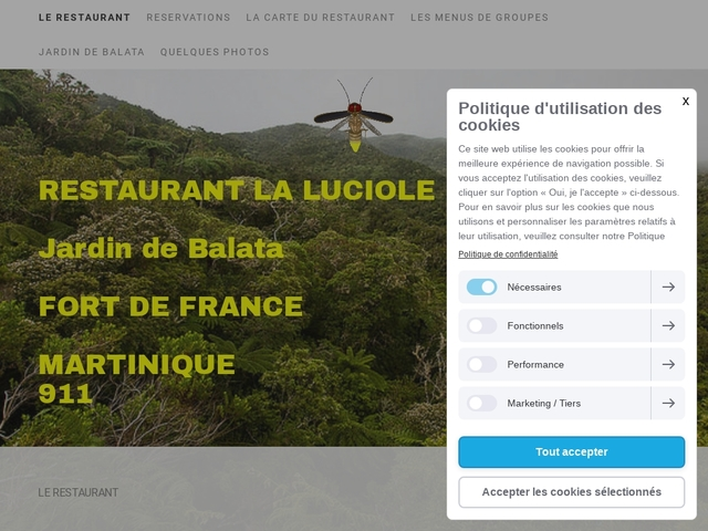 Restaurant La Luciole à Fort-de-France, Martinique