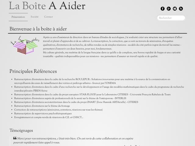 NANTES - LA BOÎTE A AIDER correction, retranscription, compte rendu